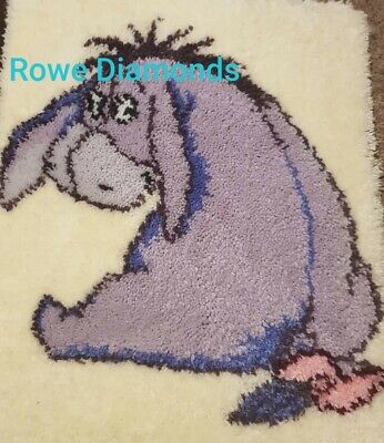 DIY Disney's Winnie The Pooh - Cute Donkey Eeyore - Make your own Latch Hook New