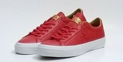 CONVERSE ONE STAR Leather OX Mens Casual Shoe RedWhite