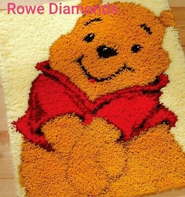 DIY Disney's Winnie The Pooh Bear Make your own Rug Latch Hook Craft teddy New