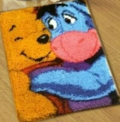 DIY Disney's Winnie The Pooh bear & Eeyore & Make your own Latch Hook Craft New