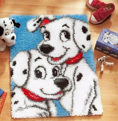 DIY Disney's 101 Dalmations cute puppies - Make your own Rug Latch Hook Kit New