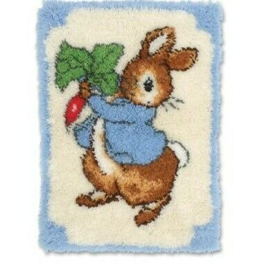 DIY Beatrix Potter's Peter Rabbit - Make your own Rug Latch Hook Craft Kit - New