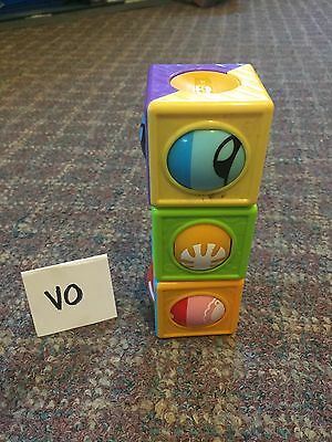 Baby Learning Toy Stacking Blocks Color Developmental Toddler Play GUC