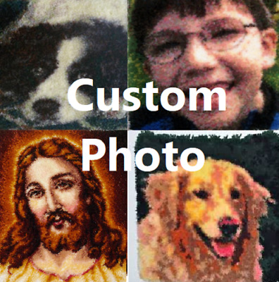 DIY Custom Photo Picture Make your own Rug Latch Hook Personalise Unique Gift