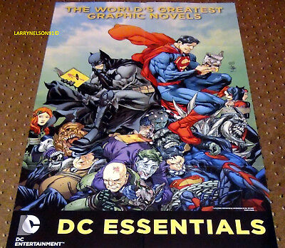 World's Greatest Graphic Novels Poster Dc Comics 22X34 Joker Harley Quinn Batman