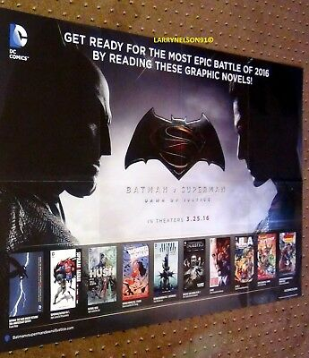 Batman Vs Superman Poster Dc Comics 22X34 Wonder Woman Jla Joker Dawn Of Justice