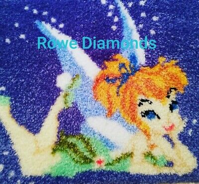 DIY Disney's Fairies Tinkerbell Peter Pan Make your own Rug Latch Hook Craft Kit