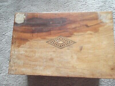 Antique or Vintage Light Wood Writing Slope - needs minor repairs  (B119)