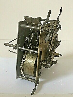 Vintage Striking Clock Movement, Untested For Spares And Repairs