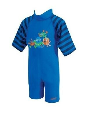 Zoggs Baby UV splash All In One Sun Protection Suit Costume 1 - 2 yrs  UPF 50 +