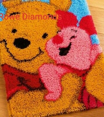 DIY Disney's Winnie The Pooh bear & Piglet Make your own Latch Hook Craft New