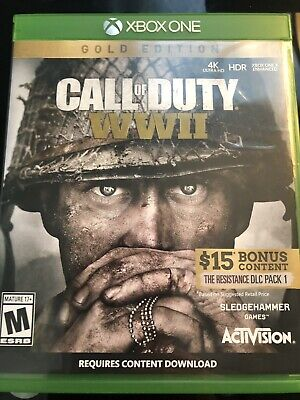 Call of Duty: WWII (Gold Edition 2018 Activision Xbox One) - Free Shipping