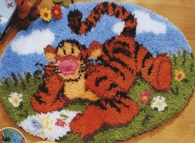 DIY Disney's Winnie The Pooh Tigger Make your own Rug Latch Hook Craft Tiger New