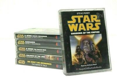 HarperCollins Star Wars Audiobooks Cassettes Collection Bundle X-Wing Rogue