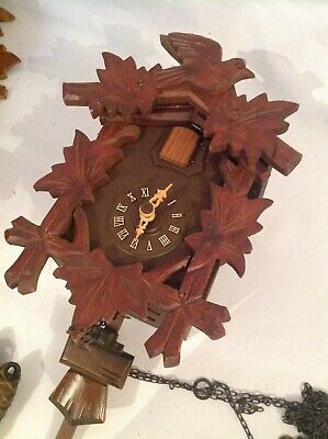 Small Modern Antique German Black Forest Cuckoo Clock regula movement