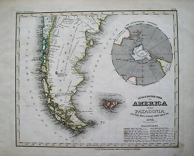 Meyer's Patagonia Map: Sudlichster Theil America Enthaltend Patagonia: 1844