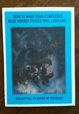 Topps Star Wars Empire Strikes Back 15 Cards/Sticker Puzzle B-1980