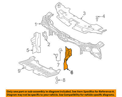 FORD OEM Radiator Support-Side Air Baffle Duct Deflector Right 6L2Z8310A