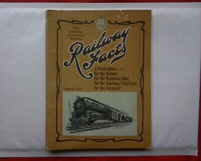 1929 Railway Facts South Australia Government Rail book Locomotive ARSENIC TRAIN