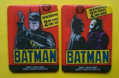 Lot 1989 Topps CANADA **BATMAN** O-Pee-Chee/OPC 2nd Series *SEALED WAX PACKS**