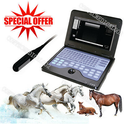 Veterinary Ultrasound Scanner Laptop Machine 7.5M Rectal For cow/horse/Animal,US