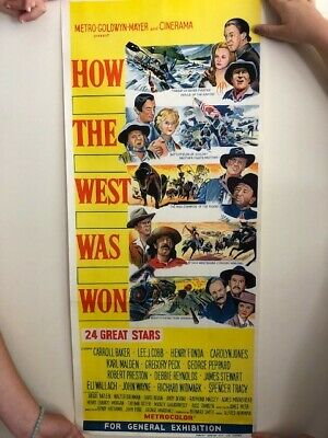 How The West Was Won 1962 John Wayne Daybill Movie poster