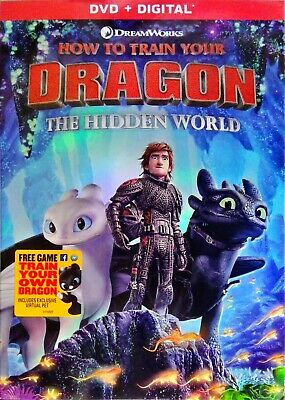 How to Train Your Dragon: The Hidden World (DVD, 2019)  SLIP-COVER * DVD+Digital