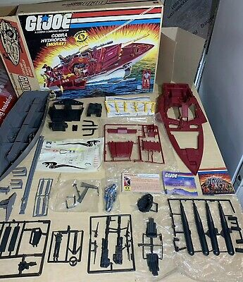 Gi Joe 1985 MIB NEVER ASSEMBLED Moray Hydrofoil 100% Complete Vintage GIJoe READ