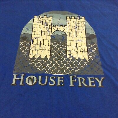 Game Of Thrones House Frey Tshirt Blue Size Small