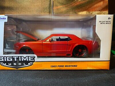 """1970 Ford Mustang Boss 429 Collectible 8.25/"""" Diecast 1:24 Orange Jada Toys"""