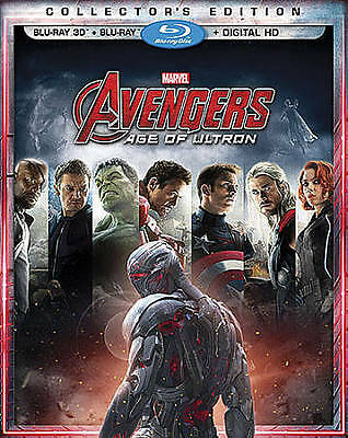 Avengers: Age of Ultron (2- Disc Blu-ray /3D, 2015) W/ Slip Cover