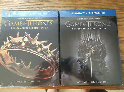 Game Of Thrones - The Complete first & Second Season Blu ray NEW SEALED Region A