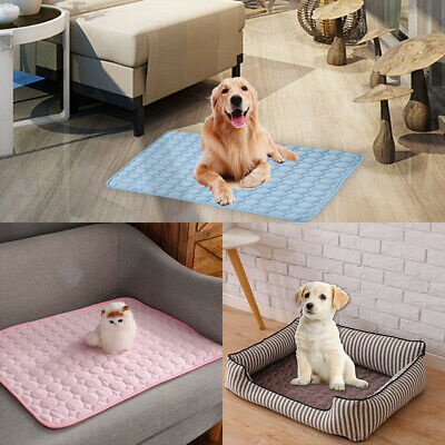 Pet Cool Gel Mat Dog Cat Bed Non-Toxic Cooling Dog Summer Pad 4 Sizes Free POST'