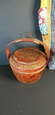 Old Chinese Wooden Rice Server Carrier …beautiful display and accent piece