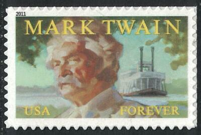Scott 4545- Mark Twain, Author- Forever Stamp- MNH (S/A) 2011- unused mint
