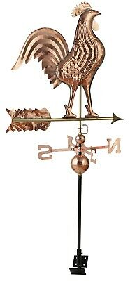LARGE Weather Vane Polished Copper Rooster BARGAIN ... Roof Top Mounting Bracket