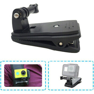 360 Degree Rotary Backpack Hat Clip Clamp Mount for Hero 5 3 4 Session Yi 4SJAU