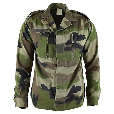 Genuine French army F2 combat jacket fatigue CE camo military issue surplus
