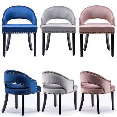 1/2 Velvet Dining Chairs Modern Occasional Armchair Bedroom Dressing Table Stool