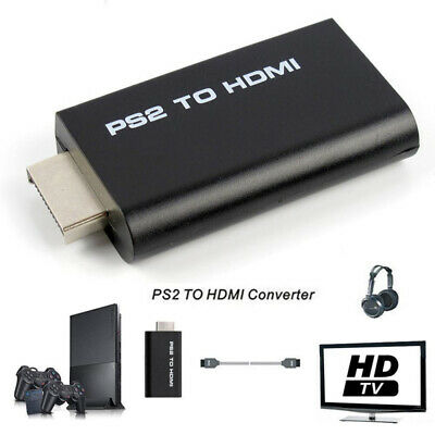 ABS PS2 to HDMI Video Converter Composite AV to HDMI PlayStation 2 HD Adapter