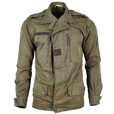 Genuine French army F2 combat jacket short cut military issue surplus olive