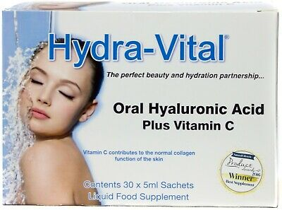 Hydra-Vital Oral Hyaluronic Acid Plus Vitamin C 5ml x 30 Sachets