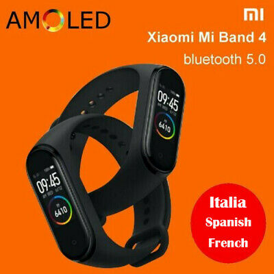 XIAOMI MI BAND 4 Italian bluetooth5.0 AMOLED SMART OROLOGIO SPORT FITNESS l1