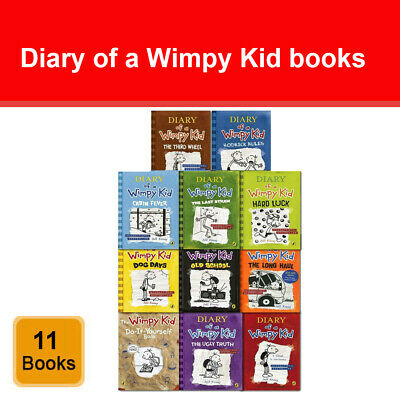 Diary of a Wimpy Kid Collection 11 Books Set Pack by Jeff Kinney Do It Yourself