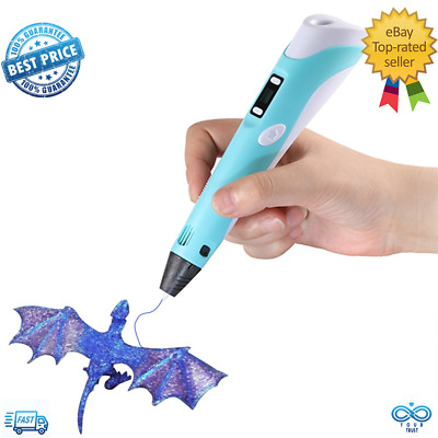 DEWANG 3D Printing Pen 2nd Crafting Doodle Printer Drawing Arts Modeling PLA