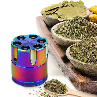 30mm Rainbow Stainless Steel Spice Herb Grinder Cylinder Tobacco Mill Portable