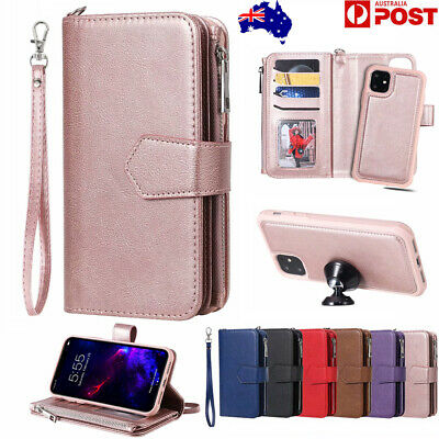 For iPhone 11 Pro Max 8/7/6s/6 Plus Xs X Xr Leather Card Flip Wallet Case Cover