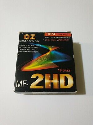 "9x Oz Micro Floppy Disk MF 2HD 3.5"" 1.44MB IBM Formatted Unused (A7)"