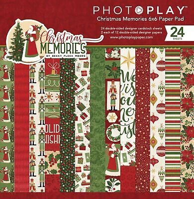 """PhotoPlay Double-Sided Paper Pad 6/""""X6/"""" 24//Pkg Monterey Bay 792436597413"""