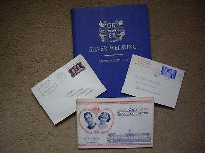 Royal First Day Covers 1937 Coronation & Book 1948 Silver Wedding & Book